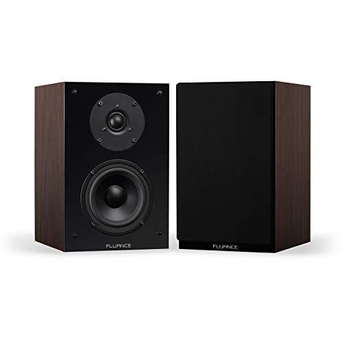 Fluance SX6W High Definition Two-Way Bookshelf Loudspeakers - Natural Walnut