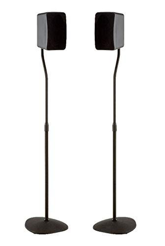 Sanus Adjustable Height Speaker Stand - Extends 28' to 38' - Holds Satellite & Small Bookshelf...