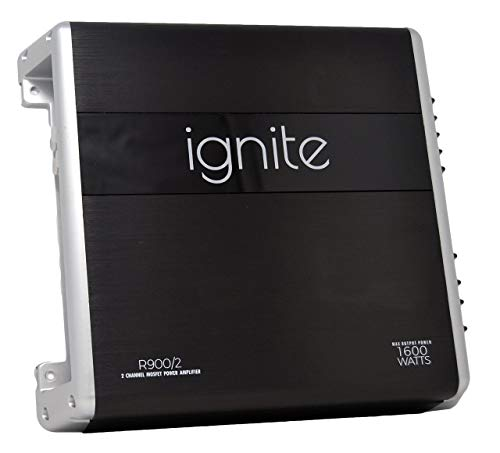 Ignite Audio 2 Channel Class A/B Car Amplifier 1600 Watts Peak Power