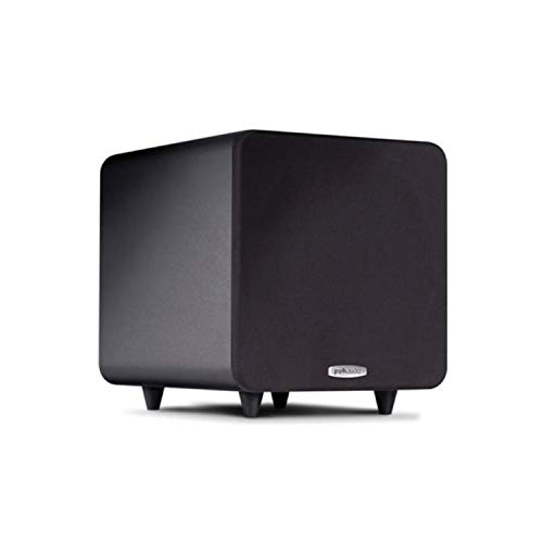 Polk Audio PSW111 Compact Powered 8' Subwoofer | Up to 300 Watt Amp | Stylish Looks, Big Bass...