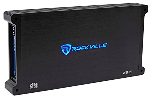 Rockville dB15 6000 Watt Peak/1500w CEA RMS Mono 2 Ohm Amplifier Car Audio Amp