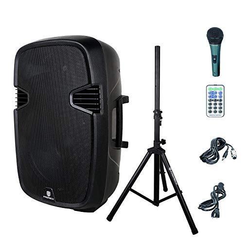 PRORECK PR-C15 Portable 15-inch 600 Watt 2-way Powered Dj/PA Speaker with Bluetooth/USB/SD Card...