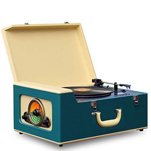 Pyle Vintage Turntable Record Player Bluetooth, CD, USB SD Recorder AM/FM Radio, Retro Vinyl...