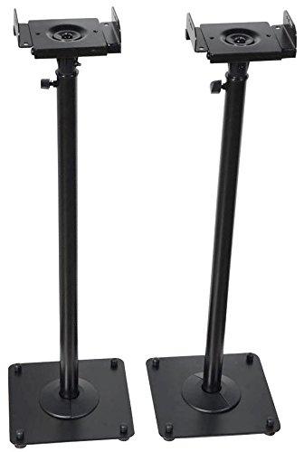 VideoSecu 2 Heavy Duty PA DJ Club Adjustable Height Satellite Speaker Stand Mount - Extends...