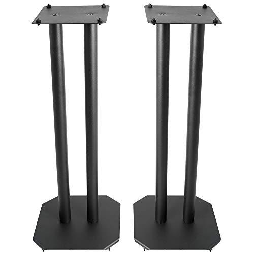 VIVO Premium Universal 25 inch Floor Speaker Stands for Surround Sound and Book Shelf Speakers,...