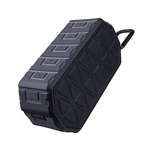 LQG Wireless Portable Bluetooth 4.0 Shower Speakers Waterproof IPX6, Black