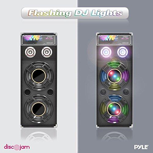 Portable Active PA Speaker System - 1000 Watt High Powered 2 Way Disco Jam Outdoor Indoor Sound...