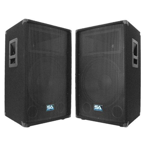 Seismic Audio - Pair of 15' PA DJ Speakers 700 Watts PRO Audio - Mains, Monitors, Bands,...