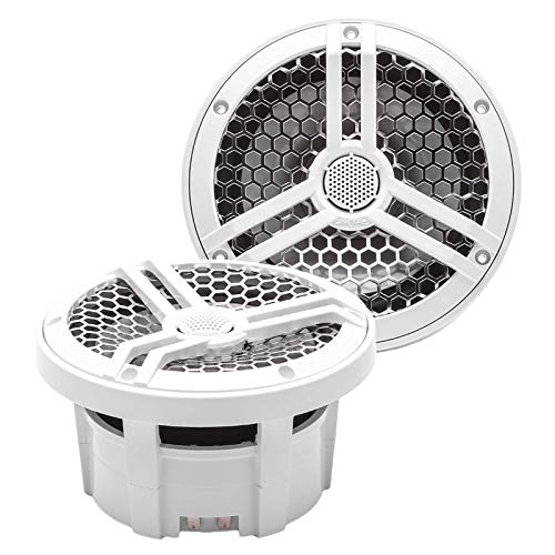 Skar Audio SK65M 6.5' 2-Way Marine Full Range 320 Watt Coaxial Speakers, Pair (White)