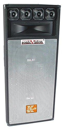Dual 15 Inch DJ Studio Speaker - Peak Power Handling, Lightweight & Durable, Easy To Transport,...