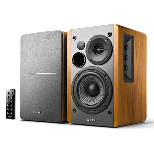 Edifier R1280DB Powered Bluetooth Bookshelf Speakers - Optical Input - Wireless Studio Monitors...