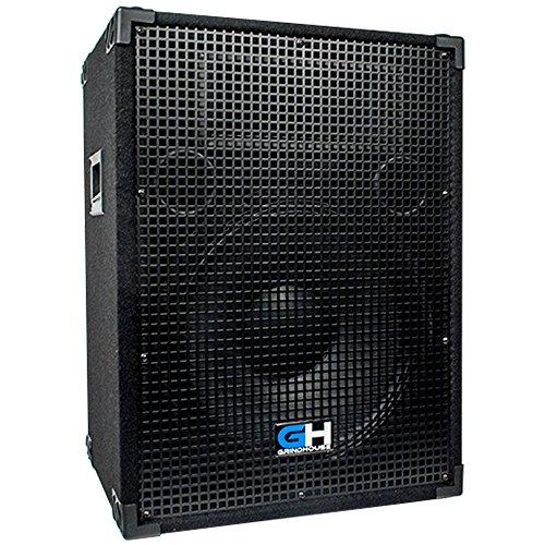 Grindhouse Speakers - GH15L - Passive 15 Inch 2-Way PA/DJ Loudspeaker Cabinet - 800 Watt Full...