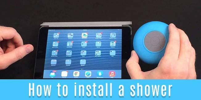 How to install a shower speaker